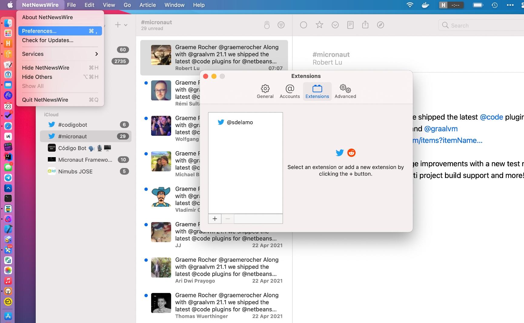 NetNewsWire Twitter Extension